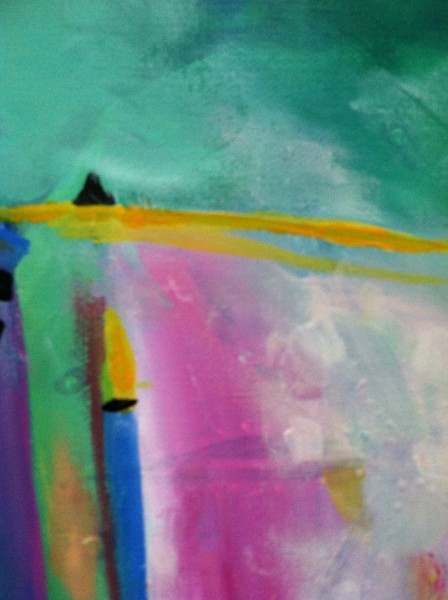 loosening up by creating an abstract