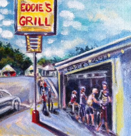 Eddy's Grill on the strip in Geneva on the Lake, Ohio. Very popular vacation destination in my own backyard!